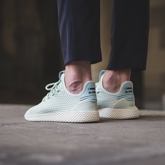 c2d2d5813c5d0 Adidas x Pharrell Williams Tennis Hu Shoes Mint